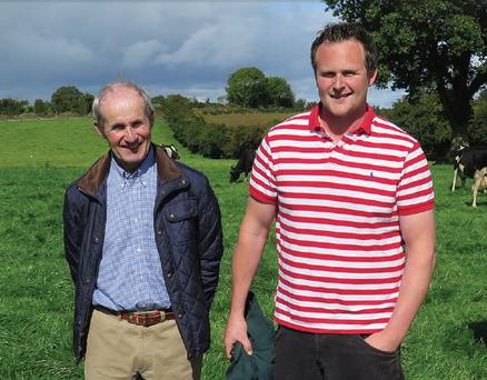Eddie and his father Denis on their farm in Golden, Co Tipperary