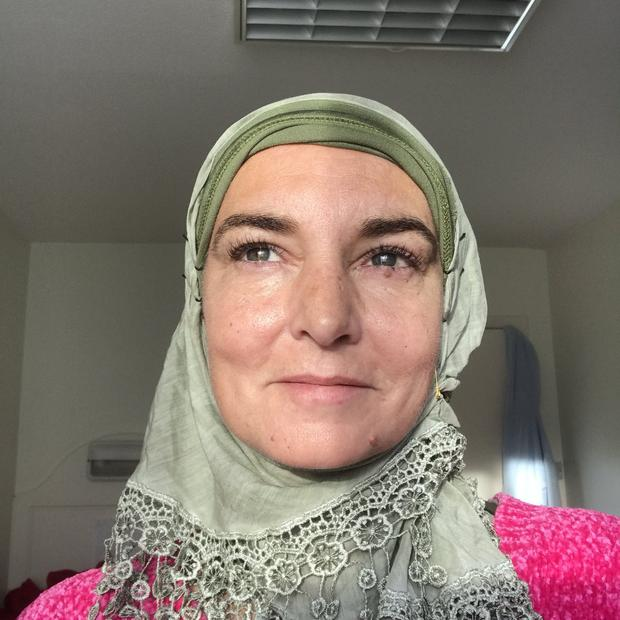 Hijab: One of the pictures posted by Sinéad O'Connor, now Shuhada Davitt, on Twitter