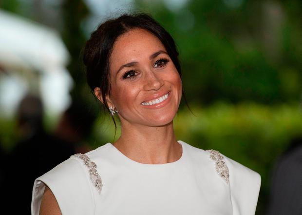 Meghan, Duchess of Sussex attends a state dinner at the Royal Residence on October 25, 2018 in Nuku'alofa, Tonga