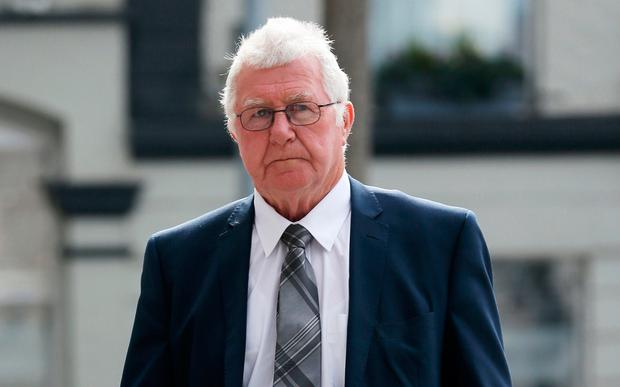 Patrick Byrnes (78) of Castletroy, Limerick arrives at the Central Criminal Court in Dublin where he was jailed for six years. Pic : Collins Courts