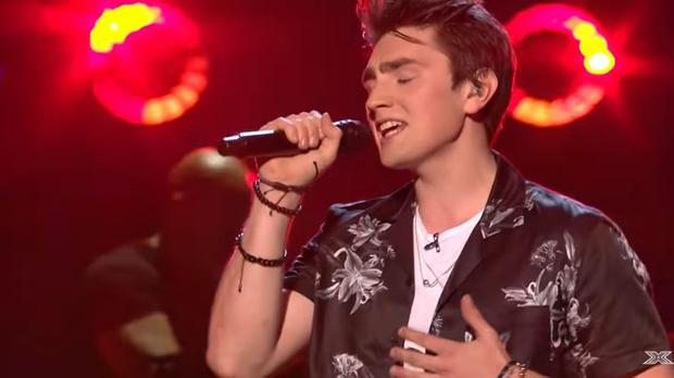Brendan Murray on the first live show of The X Factor