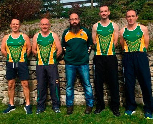 Clann na Gael's running group Brian Kelly, Cathal O'Neill, Johnny Browne, Gary Devine and Brian Dooherand