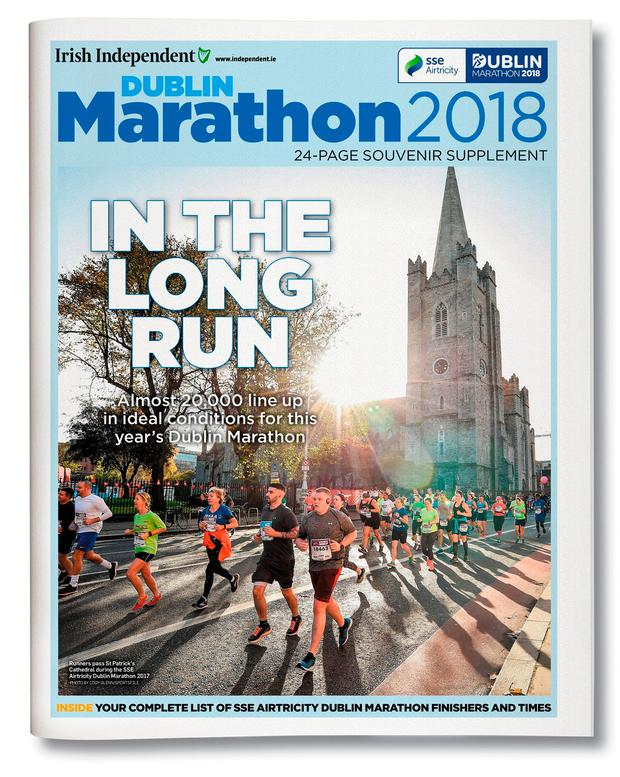 Don't miss your Dublin Marathon sounvenir supplement on Monday