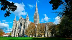 Salisbury Cathedral where a 45-year-old man was arrested on suspicion of attempted theft of the Magna Carta. Photo credit: Ben Birchall/PA Wire