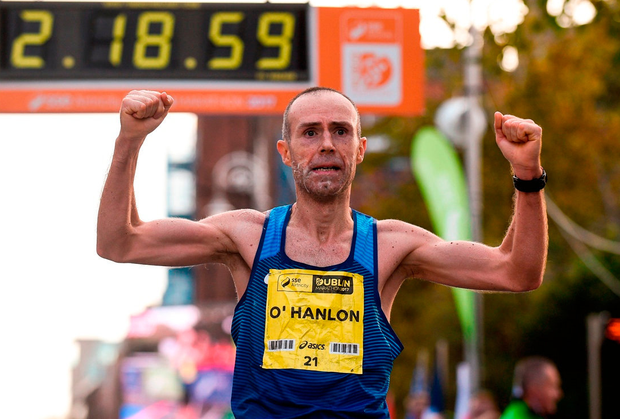 Gary O'Hanlon will defend his Irish title at the Dublin marathon tomorrow. Photo by Cody Glenn/Sportsfile