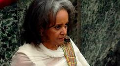 President Sahle-Work Zewde takes the oath of office. Photo: Reuters