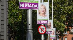 Costs: Only Michael D Higins and Liadh ní Riada put up posters. Picture: Colin O'Riordan