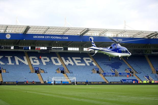 Helicopter reportedly crashes outside Leicester stadium