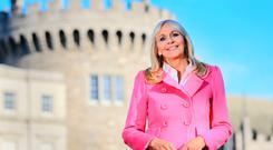 Miriam O'Callaghan in Dublin Castle during the presidential election count. Photo Gerry Mooney