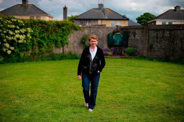 Catherine Corless at the site of the Tuam mass grave. Picture: PA