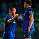 Leinster's Ed Byrne (left) and Ross Molony celebrate. Photo: Sportsfile