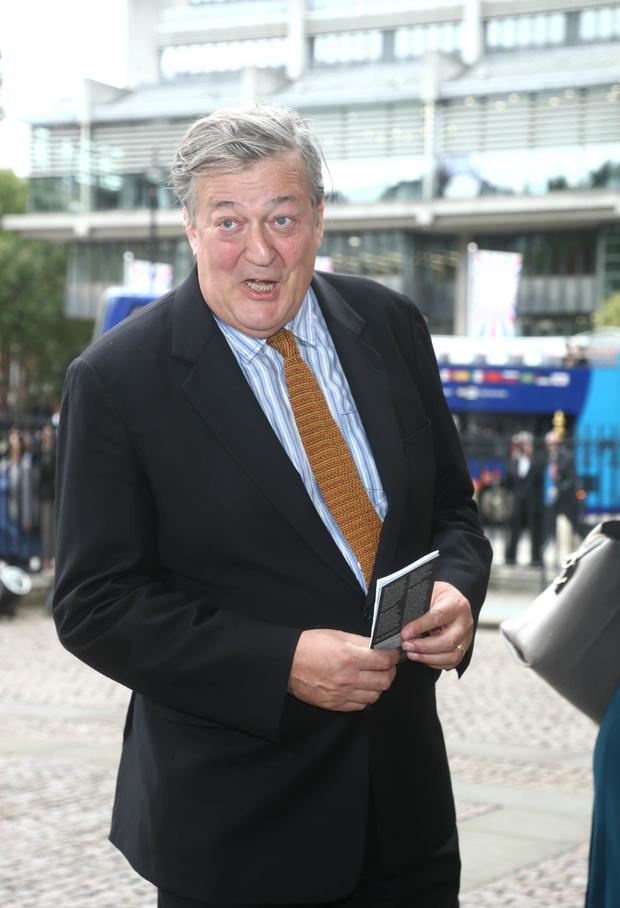 Stephen Fry was investigated but not prosecuted by Irish police over his comments about God under Ireland's anti-blasphemy law (Yui Mok/PA)