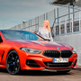 MUSCULAR: Geraldine Herbert with the new 2019 BMW 8 Series, which is breathtakingly powerful and shockingly fast