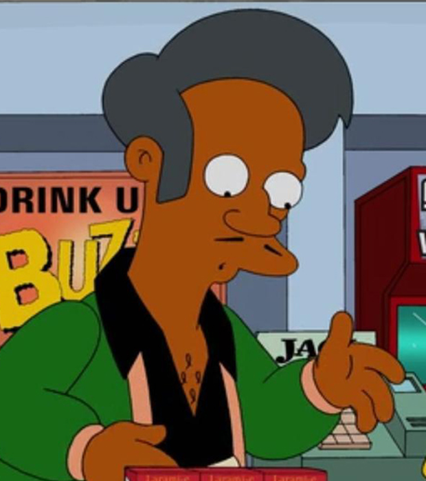 The character of Apu in The Simpsons