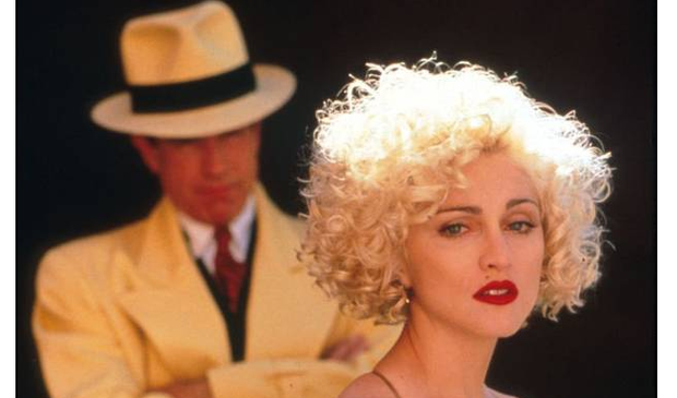 Madonna and Warren Beatty in Dick Treacy
