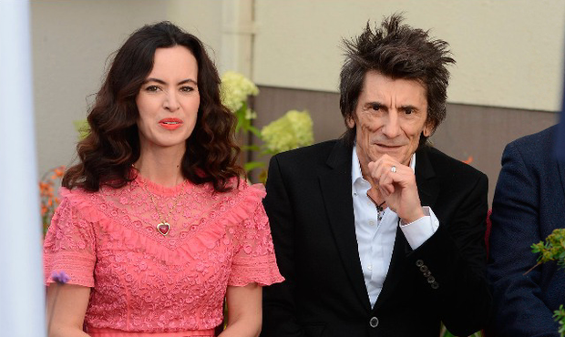 Ronnie Wood and wife Sally Humpreys unveil William Orpen sculpture at The Talbot Hotel, Stillorgan, Dublin