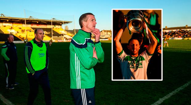 Henry Shefflin and (inset) Ballyhale Shamrocks captain Michael Fennelly lifts the cup
