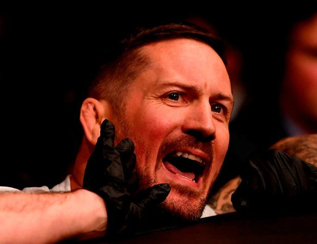 McGregor's coach John Kavanagh accepts some of the blame for the Las Vegas defeat. Photo: Stephen McCarthy/Sportsfile