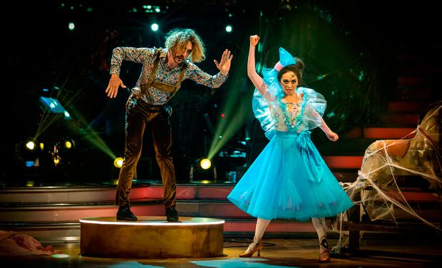Seann Walsh and Katya Jones during a dress rehearsal for Saturday's Strictly Come Dancing live show on BBC One.