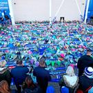 Supporters paid tribute at Leicester's ground following the tragedy. Photo: Aaron Chown/PA Wire