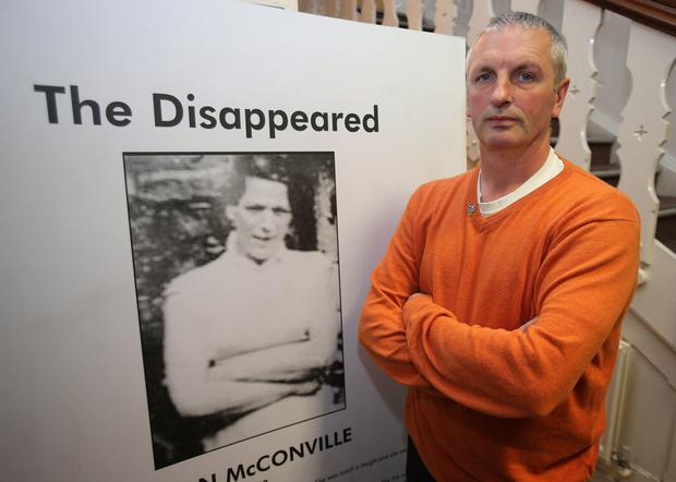 Questions: Michael McConville, the son of murdered Belfast woman Jean McConville, fears the PSNI has known for years who killed the mother of 10 but has failed to act on the information. Picture: PA
