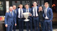 Jim Gavin and Dublin players at the Mean Fiddler