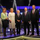 Presidential election candidates Joan Freeman, Liadh Ní Riada, Michael D Higgins, Sean Gallagher, Peter Casey and Gavin Duffy