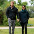 Britain's Prince Harry and his wife Meghan, Duchess of Sussex visit Totaranui Campground in the Abel Tasman National Park on October 29, 2018