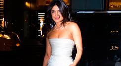 Priyanka Chopra arrives for her bridal shower at Tiffany's Blue Box Cafe in Midtown on October 28, 2018 in New York City. (Photo by Gotham/GC Images)
