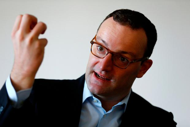 Rising star: Jens Spahn has become a major critic of Angela Merkel. Photo: REUTERS/Joachim Herrmann