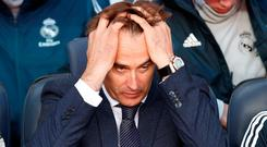 Julen Lopetegui lasted just 14 games as Real Madrid manager, winning six matches. Photo: Reuters