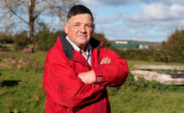 Victim: John White on his farm in Killossery, Co Dublin. Photo: Damien Eagers/INM