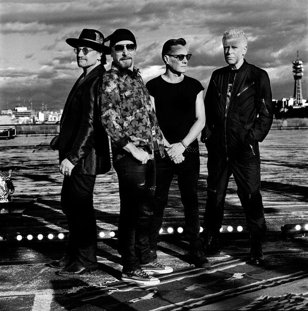 U2 - Bono, The Edge, Larry Mullen Jnr and Adam Clayton. Portrait by Anton Corbijn