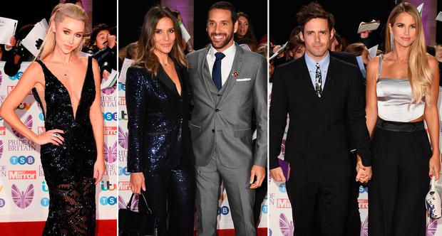 (L to R) Una Healy, Amanda Byram and Julian Okines and Spencer Matthews and Vogue Williams at the Pride of Britain Awards 2018