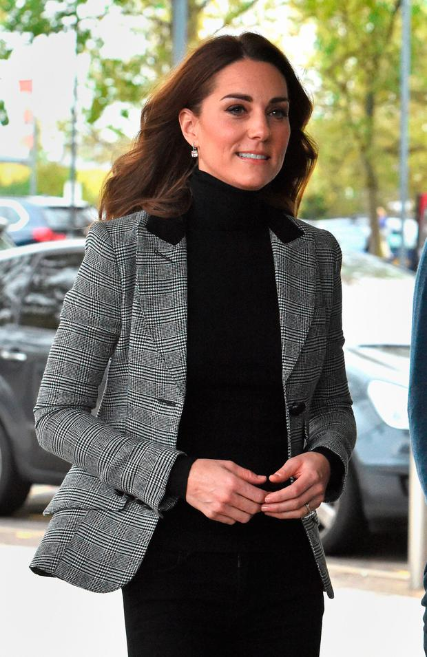 The Duchess of Cambridge arrives for a visit to Coach Core Essex in Basildon