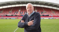 Brendan Foley at the 'new' Thomond Park. Photo: Liam Burke/Press 22