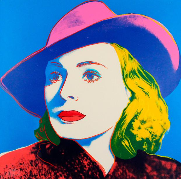 Style: 'Ingrid Bergman With Hat' by Andy Warhol, which will be among the works on show at Art Source at the RDS from November 9 to 11