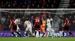 Soccer Football - Carabao Cup Fourth Round - AFC Bournemouth v Norwich City - Vitality Stadium, Bournemouth, Britain - October 30, 2018 Bournemouth's Steve Cook scores their second goal Action Images via Reuters/Matthew Childs