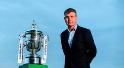 Dundalk manager Stephen Kenny poses for a portrait during the Dundalk Media Day ahead of Irish Daily Mail FAI Cup Final match between Dundalk and Cork at Oriel Park, in Dundalk, Louth. Photo by Sam Barnes/Sportsfile