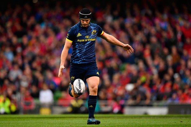 27 May 2017; Tyler Bleyendaal of Munster during the Guinness PRO12 Final between Munster and Scarlets at the Aviva Stadium in Dublin. Photo by Ramsey Cardy/Sportsfile