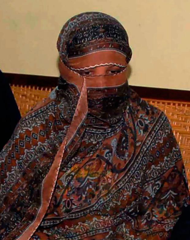 Relief: Asia Bibi's blasphemy conviction has been overturned. Photo: Getty Images