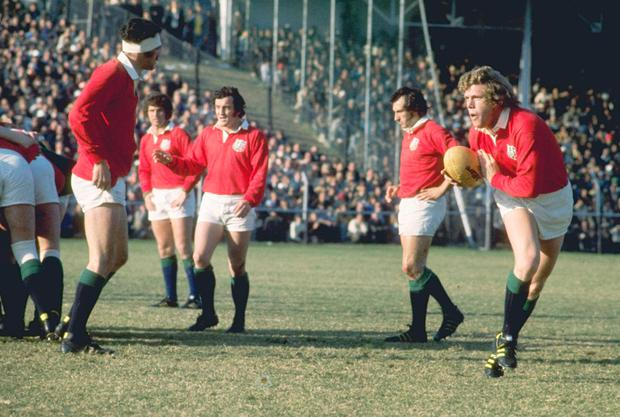 Icon: Fergus Slattery in action for the British and Irish Lions during his rugby playing days. Photo: Getty