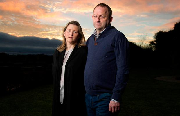 Eight years of torture: Maurice McCabe and his wife Lorraine at their home in Mount Nugent, Co Cavan. Photo: Barry Cronin