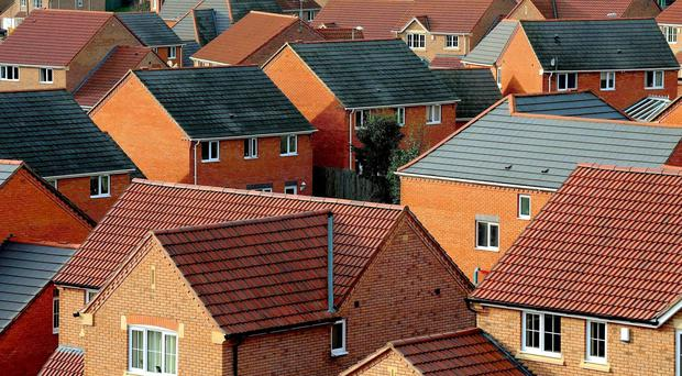 Property prices rose in the year to March, but at the slowest pace in six years.