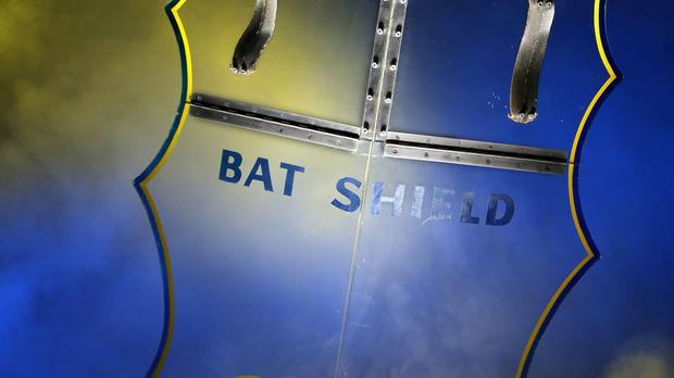 The bat shield prop from Adam West's 1960s Batman series is going under the hammer (Prop Store/PA)