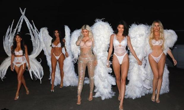(L to R) Kourtney Kardashian, Kim Kardashian, Kylie Jenner, Kendall Jenner and Khloe Kardashian during Halloween 2018. Picture: Instagram