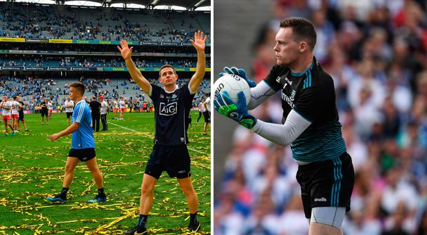 Stephen Cluxton and (right) Rory Beggan