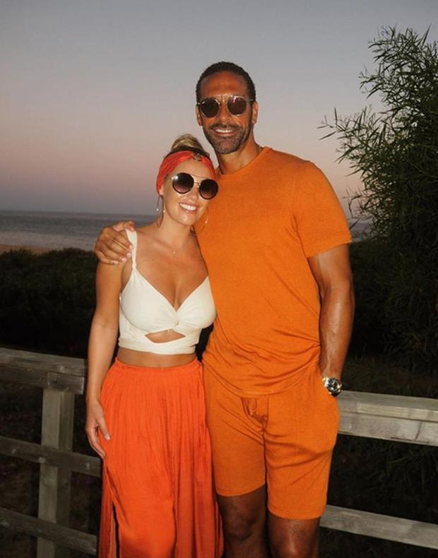 Kate Wright and Rio Ferdinand. Picture: Instagram