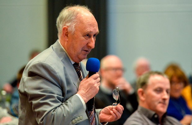 24 February 2018; Frank Murphy, Secretary of the Cork County Board, speaking during the GAA Annual Congress 2018 at Croke Park in Dublin. Photo by Piaras Ó Mídheach/Sportsfile