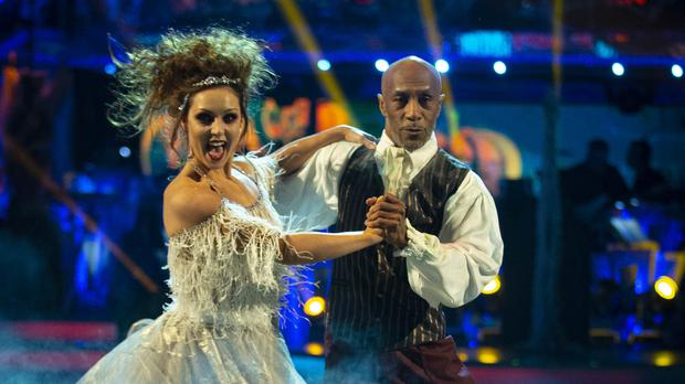 Strictly's Amy Dowden praises Danny John-Jules after she suffered an ankle injury (Guy Levy/BBC)